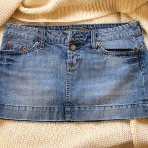 American Eagle Micro Mini Denim skirt
